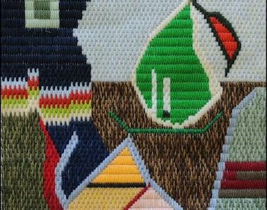 Mark Olshansky abstract needlepoint Almost a Still Life