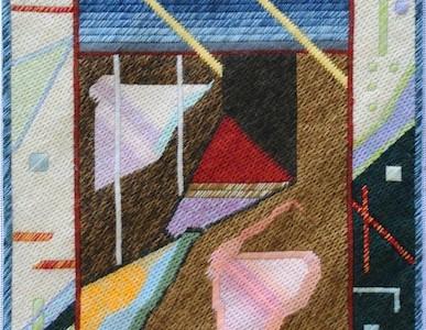 Mark Olshansky abstract needlepoint Sub Med