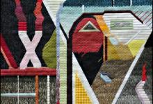 Mark Olshansky abstract needlepoint Ancestry Unknown