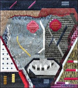 Mark Olshanskt abstract needlepoint #14, Temporarily