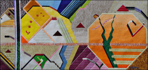 Mark Olshansky abstract art Untitled, with Elf